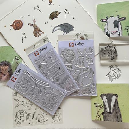 Art stamps - Helen Wiseman Illustration