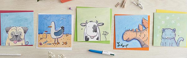 Illustrated greetings cards - Helen Wiseman Illustration.