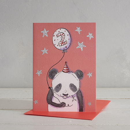 Happy Birthday Girls Age 2 Panda Greetings Card