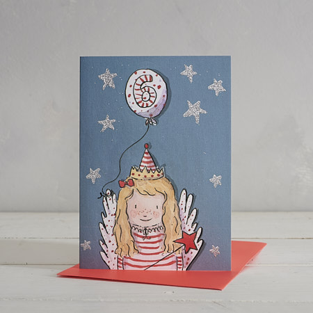Buy Happy Birthday Girls Age 6 Fairy Greetings Card from Helen Wiseman Illustration