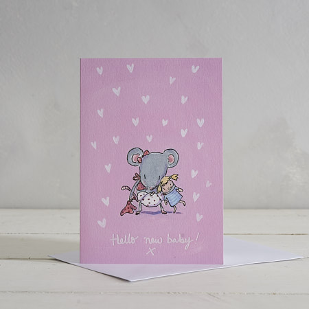 Hello New Baby (Girl) Greetings Card