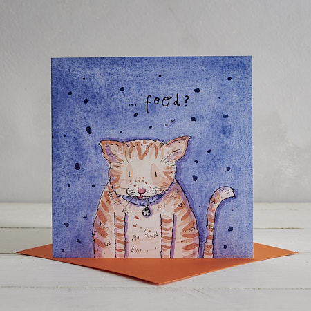 Buy Wheres My Food Cat Greetings Card from Helen Wiseman Illustration