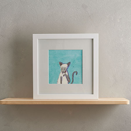 Buy Siamese Cat Print 'Selina' from Helen Wiseman Illustration