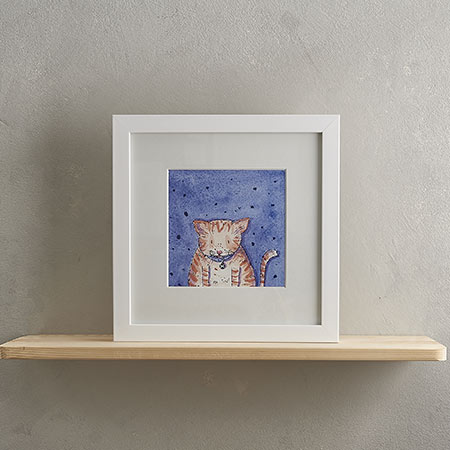 Buy Fat Ginger Cat Print 'Marmalade' from Helen Wiseman Illustration