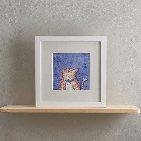 Fat Ginger Cat Print 'Marmalade'