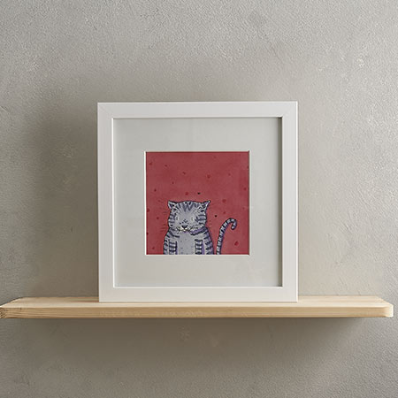 Buy Grey Stripey Cat Print 'Edgar' from Helen Wiseman Illustration
