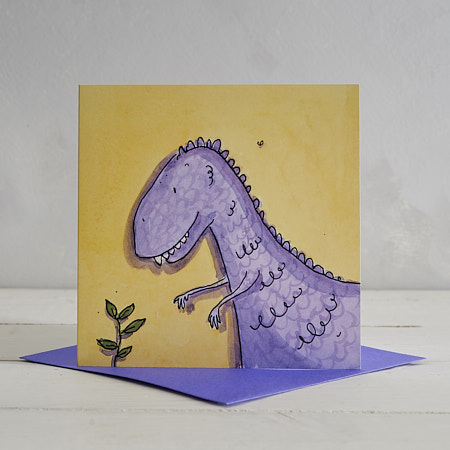 Buy T-Rex Greetings Card 'Trevor' from Helen Wiseman Illustration
