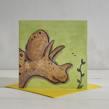 Buy Triceratops Greetings Card 'Rick' from Helen Wiseman Illustration