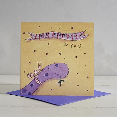 Buy Happy Birthday Dotty Dippy Greetings Card from Helen Wiseman Illustration