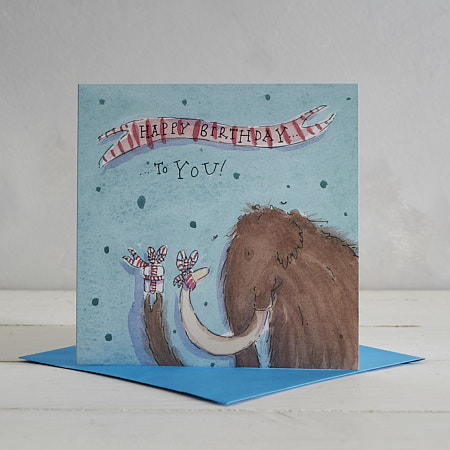 Buy Happy Birthday Hairy Mammoth Greetings Card from Helen Wiseman Illustration
