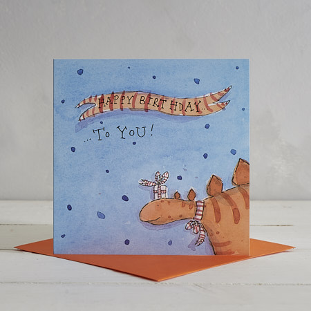 Buy Happy Birthday Dotty Stegosaurus Greetings Card from Helen Wiseman Illustration