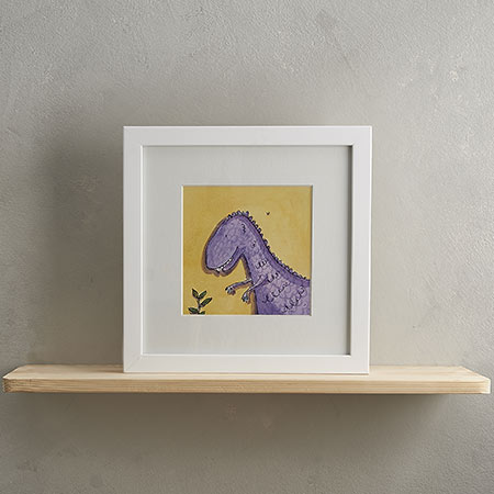 Buy T-Rex Print with Frame 'Trevor' from Helen Wiseman Illustration