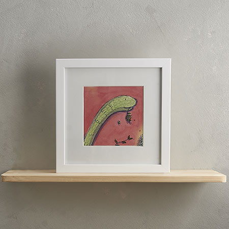 Buy Diplodocus Print with Frame 'Daryll' from Helen Wiseman Illustration