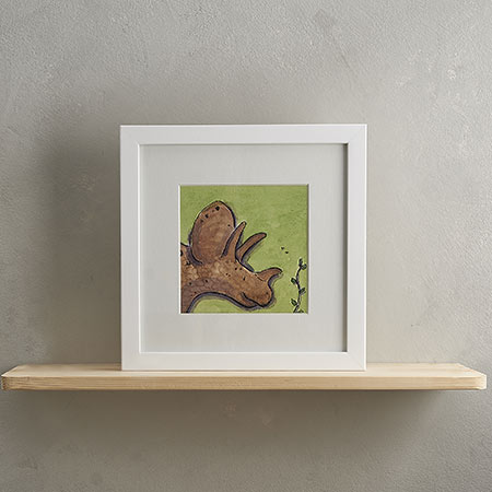 Buy Triceratops Print with Frame 'Rick' from Helen Wiseman Illustration