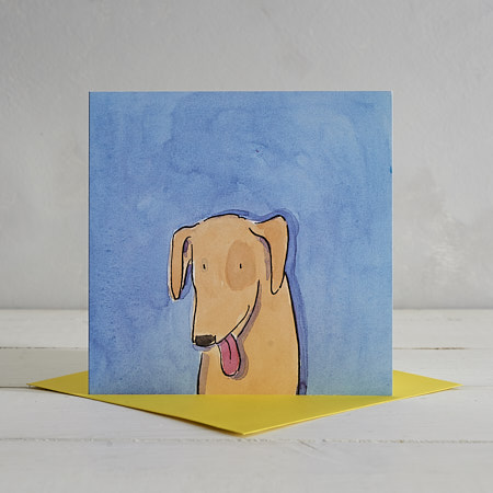 Buy Yellow Labrador Dog Greetings Card 'Barney' from Helen Wiseman Illustration