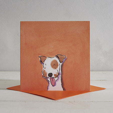 Buy Terrier Dog Greetings Card 'Scoobie' from Helen Wiseman Illustration