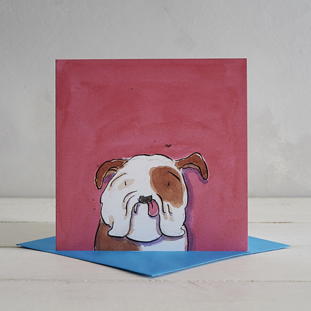 Buy Bulldog Greetings Card 'Winston' from Helen Wiseman Illustration