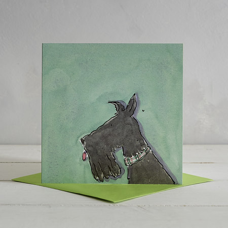 Buy Scotty Dog Greetings Card 'Frank' from Helen Wiseman Illustration