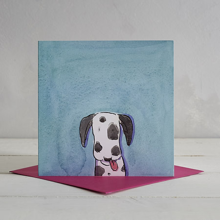 Buy Dalmatian Dog Greetings Card 'Nigel' from Helen Wiseman Illustration