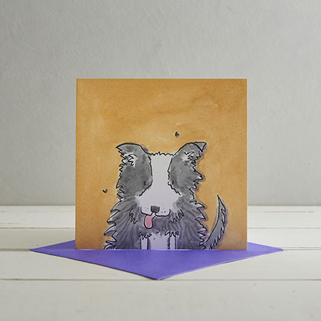 Sheep Dog Greetings Card 'Barker'