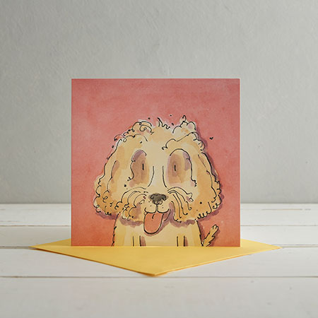 Buy Cockerpoo Dog Greetings Card 'Stanley' from Helen Wiseman Illustration