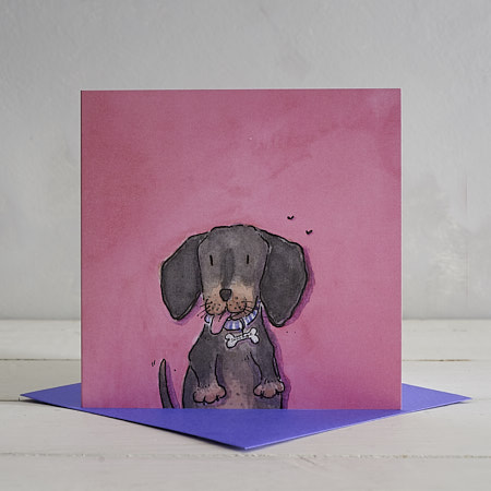 Buy Sausage Dog Greetings Card 'Sizzles' from Helen Wiseman Illustration