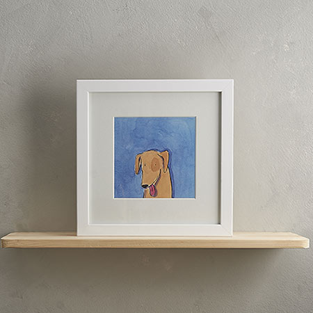 Buy Yellow Labrador Dog Print 'Barney' from Helen Wiseman Illustration