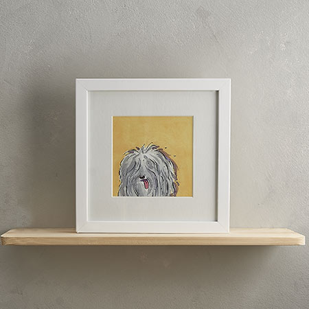 Buy Old English Sheep Dog Print 'Tim' from Helen Wiseman Illustration