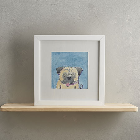 Buy Pug Dog Print 'Ronnie' from Helen Wiseman Illustration