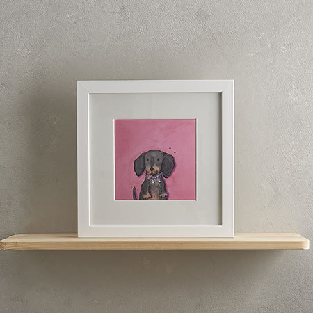 Buy Sausage Dog Print 'Sizzles' from Helen Wiseman Illustration