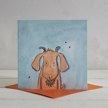 Buy Goat Greetings Card 'Jim' from Helen Wiseman Illustration