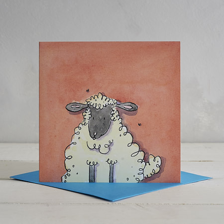 Sheep Greetings Card 'Freya'