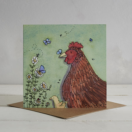 Buy Chicken Family Greetings Card 'Camilla & Maud' from Helen Wiseman Illustration