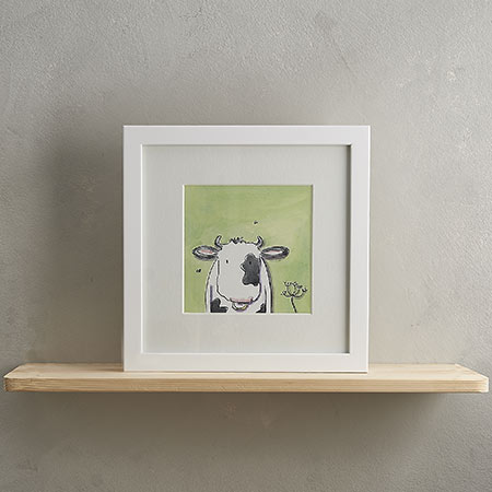 Buy Cow Print 'Mike' from Helen Wiseman Illustration