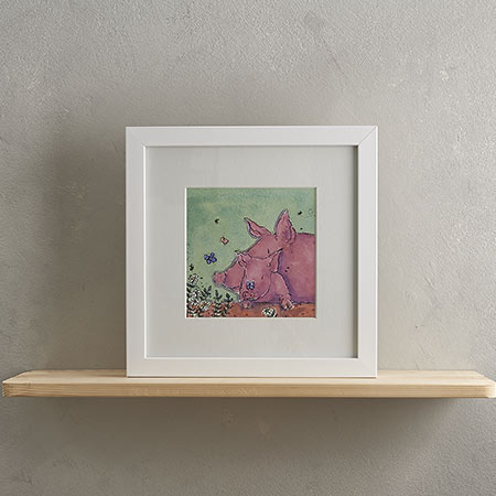 Piggy Family Print 'Pippa & Poppy'