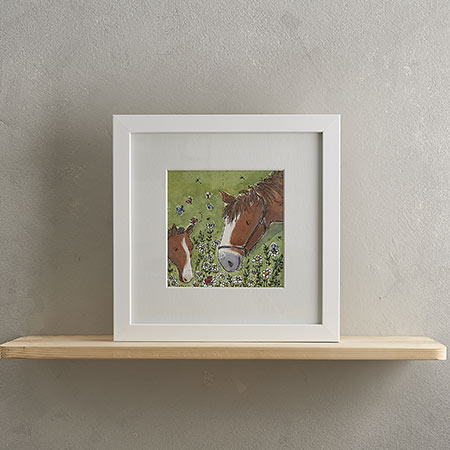 Buy Horsey Family Print 'Ginger & Spice' from Helen Wiseman Illustration