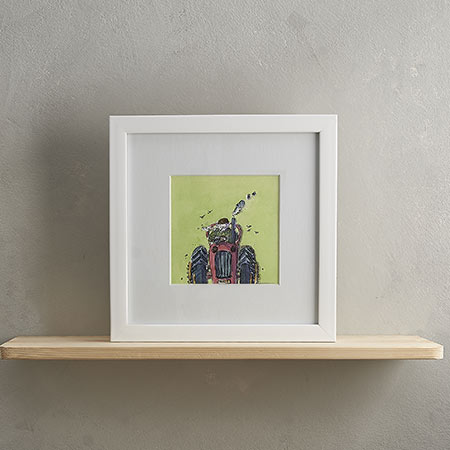 Buy Tractor Print 'Farmer Jack & Trevor Tractor' from Helen Wiseman Illustration