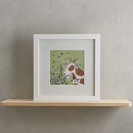 Buy Goat Family Print 'Gertie & Pip' from Helen Wiseman Illustration