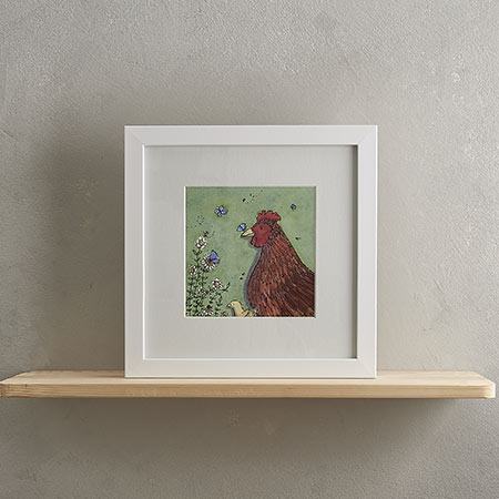 Buy Chicken Family Print 'Camilla & Maud' from Helen Wiseman Illustration