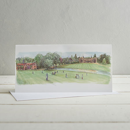 Buy Cricket at Audley End Greetings Card from Helen Wiseman Illustration