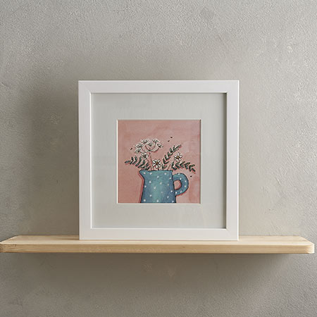 Buy Blue Spotty Jug Print from Helen Wiseman Illustration