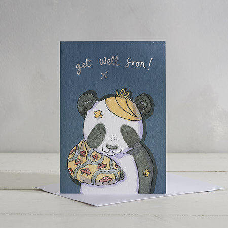Buy Get Well Soon (Boys) Greetings Card from Helen Wiseman Illustration