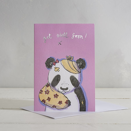 Get Well Soon (Girls) Greetings Card