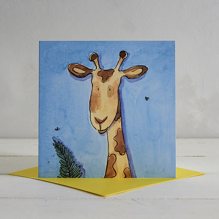 Buy Giraffe Greetings Card 'Gary' from Helen Wiseman Illustration