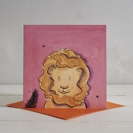 Buy Lion Greetings Card 'Rusty' from Helen Wiseman Illustration