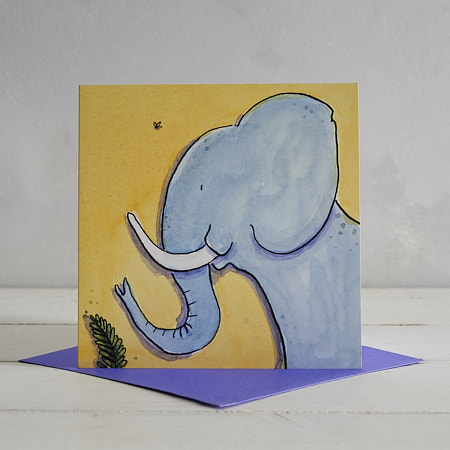 Buy Elephant Greetings Card 'Marjory' from Helen Wiseman Illustration