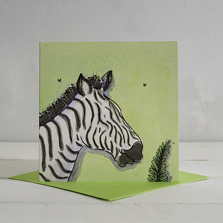 Buy Zebra Greetings Card 'Zoe' from Helen Wiseman Illustration
