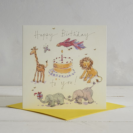 Buy Happy Birthday Jungle Greetings Card from Helen Wiseman Illustration