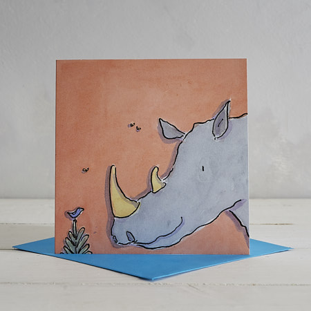 Buy Rhino Greetings Card 'Richard' from Helen Wiseman Illustration