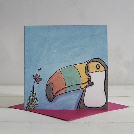 Buy Toucan Greetings Card 'Tabitha' from Helen Wiseman Illustration